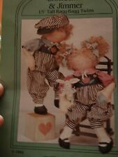 "My Sister & I Patterns Ragg-Bagg Twins ""Snicklefritz & Jimmer"" Used Sr 506"