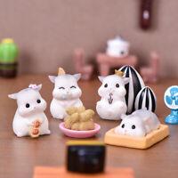 KQ_ IC- Resin Dollhouse Miniature Cartoon Peeling Peanut Hamster Mini Ornaments