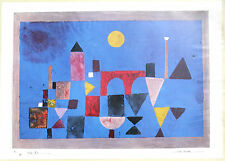 (PRL) 1988 PAUL KLEE ROTE BRUCKE VINTAGE AFFICHE ORIGINAL ART PRINT ARTE POSTER