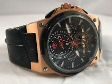 S.U.G. MAGNUM GENTS AUTOMATIC MULTI-FUNCTION WATCH BLACK LEATHER / DIAL