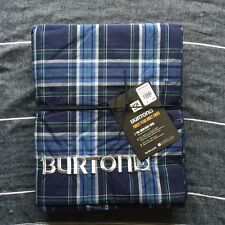 pottery barn teen Burton Forest Plaid queen duvet cover navy blue