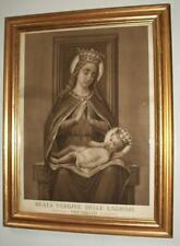 Antica icona litografia Madonna Gesù Santuario Beata Vergine Lacrime Treviglio