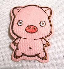 ÉCUSSON PATCH BRODÉ thermocollant - COCHON ROSE PIG ** 4 X 4,5 cm**