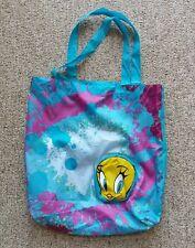 Nylon Tweety Bird Tote Ocean Blue Zippered Pouch Lightweight Strap Beach Bag