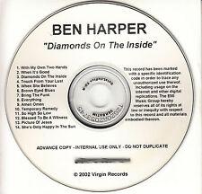 BEN HARPER Diamonds On The Inside UK 14-trk watermarked promo test CD