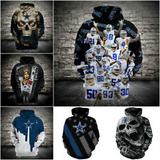 2020 New Men's Hoodies Dallas Cowboys Hooded 3D Print Sweatshirt Pullover Jacket