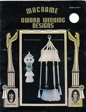 Award Winning MACRAME Designs 1980 Owl Plant Hanger Baby Swing Double Decker