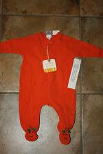 NWT Baby Gap 3M/Years Halloween PUMPKIN One-Piece ORANGE Pajamas New