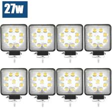 8x 27W CREE LED WORK LIGHT BAR OFFROAD DRIVING FLOOD LIGHT AUTO LAMP ATV 12V 24V