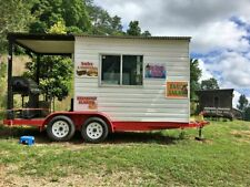8' x 12' Barbecue Concession Trailer with Porch / Mobile Bbq Trailer for Sale in