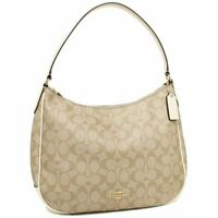 NWT Coach F29209 Zip Shoulder Bag in Signature Coated Canvas Chalk