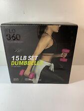 New Flo 360 15LB Set Dumbbells 7.5 Pounds Each (pair) Pink See Desc.