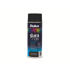 Dulux Duramax 340g Satin Black Spray Paint