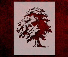 "Tree Oak 8.5"" x 11"" Stencil FAST FREE SHIPPING (598)"