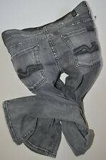"""NEW 7 FOR ALL MANKIND Grey JEANS size 25  32""""leg  uk 6-8  High Waisted STRAIGHT"""