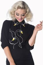 BANNED Swan Lake Alternative Shirt - Available in 4 Colours Black Uk-10
