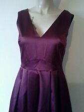 "BNWT "" NEXT "" Size 12 BURGUNDY/BERRY SATIN DRESS EVENING PARTY SMART , New"