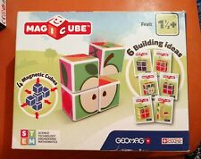 RARE GEOMAG MAGICUBE FRUIT NEW & SEALED MAGNETIC CUBES 6 BUILDING IDEAS 1 1/2+