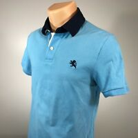 Express S Polo Mens Shirt Size Small Fitted Blue Short Sleeve