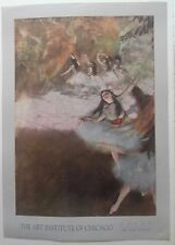 Edgar Degas On the Stage Art Institute of Chicago Vintage 1989 Ballet Poster