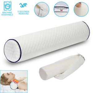 Cervical Neck Pillow Memory Foam Roll Cushion Bolster for Back Leg Waist Support