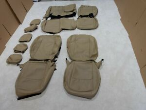 Factory Take-Off Leather Seat Covers Fits Jeep Wrangler Rubicon 2018-20 Tan A77
