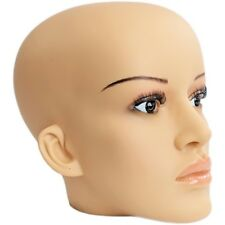 Mn-C2 Plastic Female Realistic Head Attachment for Mannequins, has Pierced Ears