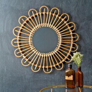 Rattan New Vintage Large Wall Mirror