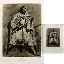 Théodore Géricault Un nègre c1900 Héliogravure Chauvet maîtres dessin