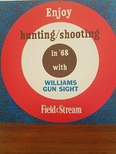 Rare 1968 Williams Gun Sight orig paper shooting target Enjoy hunting shooting