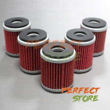 5x Oil Filter HF140 HF 140 For Yamaha YZ250F YZ450F WR 250F 250R 250X 450F XT250