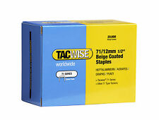 Tacwise 71 Type Staples Beige 12mm And Black 10mm Staples  Upholstery Supplies