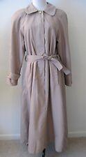 Fashion Dreams Beige Womens Size M Classic Overcoat Trench Coat Long Raincoat