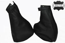 BLACK STITCH FOR FIAT COUPE 16V 20V 1994-2000 TURBO GEAR & HANDBRAKE SET