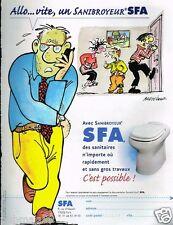 Publicité advertising 2002 Le Sanibroyeur SFA par Bretécher