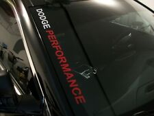 Dodge PERFORMANCE  Windshield Decal FITS: Charger Challenger R/T SRT RAM 1500