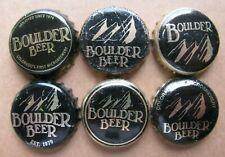 6 DIFFERENT BOULDER BEER BOULDER COLORADO BEER BOTTLE CAPS