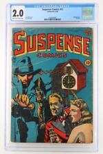 Suspense Comics #12 - CGC 2.0 GD- Continental 1946 - Hanging Cover!