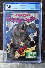 Amazing Spider-Man #41 CGC 7.0 Off White to White Pages First Rhino