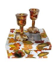 "NIB Oleg Cassini SD Simon Designs Fall Harvest Shimmer 4"" Candle Stick Holder …"