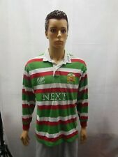 Leicester Tigers Rugby Union Long Sleeve Jersey Cotton Traders 1997-99 L