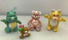 4pc Mix Lot Vtg 1980's Care Bears,Wuzzles & Galatians Poseable PVC Bear Figures