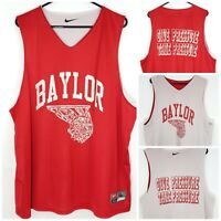 Nike Mens Baylor Rare Red Basketball Jersey Reversible Sz XL