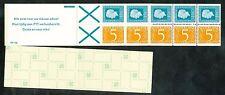 Nederland boekje 19 b postfris; O1 witte baan door het kruis