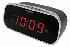 Timex T121B Alarm Clock with 0.7-Inch Red Display (Black) Square Black