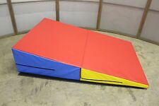 Gymnastics Folding Wedge 72x47x16 Mat Pad Tumbling New Cheap 4x6 Cheese Kids fun