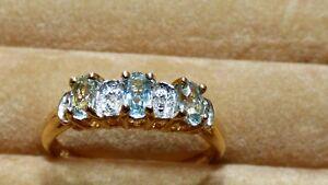 Cuprian Blue Tourmaline and Diamond Ring - beautiful rare stones