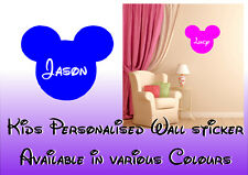 Child's disney style Bedroom  personalised name decal/sticker Kid's playroom