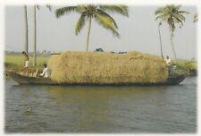 (82126) Postcard India Kerala Backwaters Boat #13 - un-posted