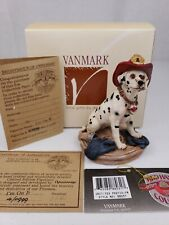 I'm On It Dalmatian Dog Firefighter Figurine Vanmark Red Hats of Courage FM88031